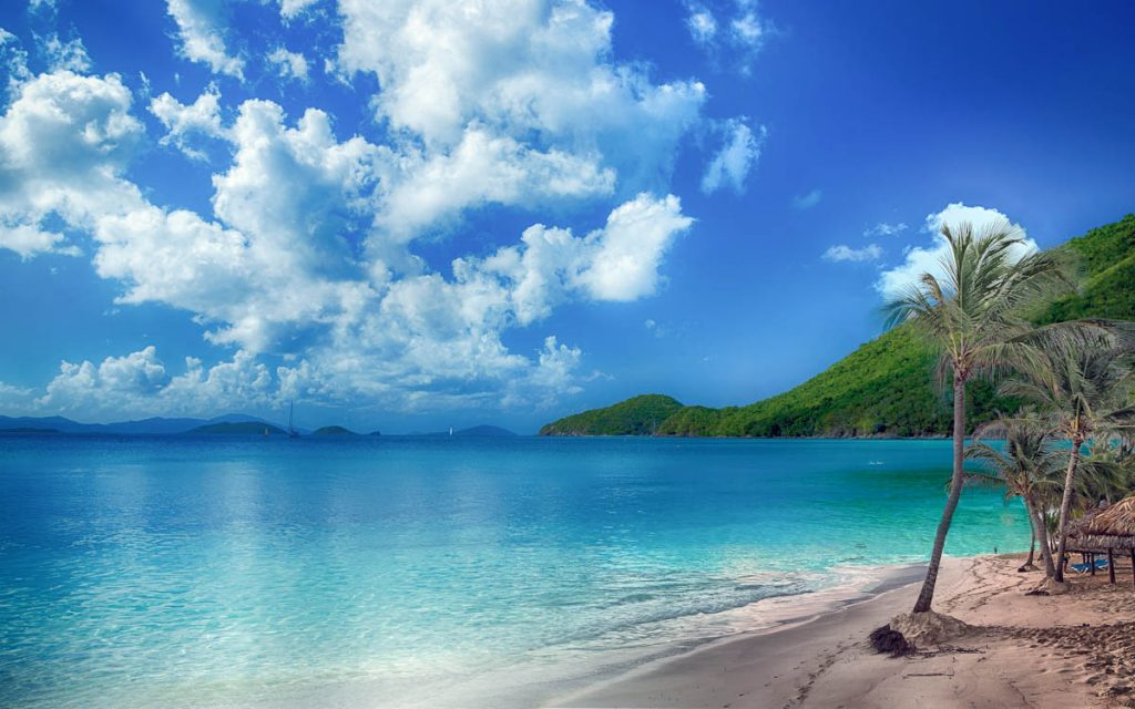 tropical-beach-scene,bay-beach-sky-clouds