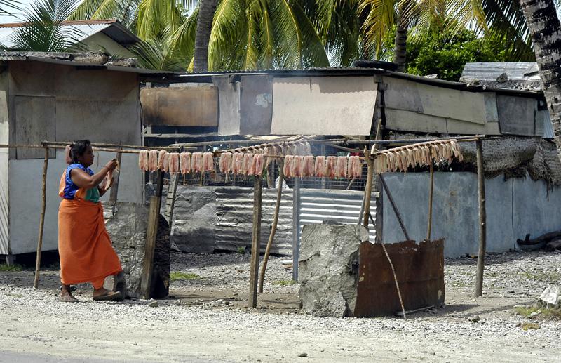 kiribati-drying-fish-roadside
