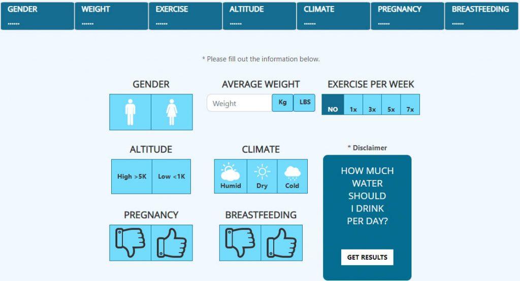 water-hydration-calculator-screenshot